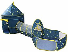 Steadyuf 3 in 1 Pop Up Play Tent with Tunnel, Ball