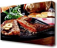 Steak Dinner Kitchen Canvas Print Wall Art East