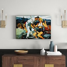 Stealing a Kiss Art Print Wrapped on Canvas East