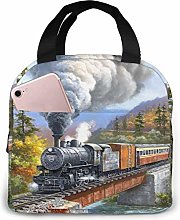 Steam Trains Reusable Insulated Lunch Bag Cooler