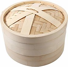 Steamer-4 Sizes 2 Tiers Bamboo Steamer Basket