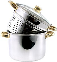 Steamer Pot for Pasta and Steam Cooking (Stainless