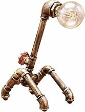 Steampunk Industrial Dog Table Lamp Edison Retro