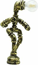 Steampunk Table Lamp Robot Light Thinkers