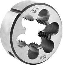 Steel 25mm Thickness Metric M33 Screw Thread Round