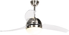 Steel ceiling fan with remote control - Bora 52
