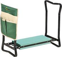 Steel Frame Garden Kneeler Seat Duo Foam Bag Tool