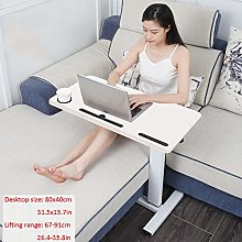 Steel Pipe Laptop Lap Desk with White Solid Wood