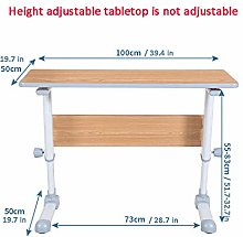 Steel Pipe Small Computer Desk with Brown