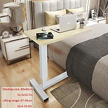 Steel Pipe Table For Laptop with Yellow Solid Wood