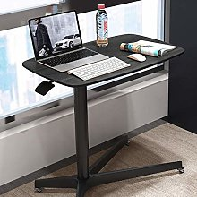 Steel Tube Desk with Yellow MDF Casters with