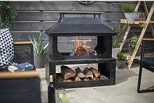 Steel Wood Burning Outdoor Fireplace Belfry Heating