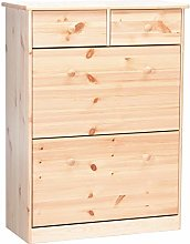 Steens Mario Pine Shoe Cabinet, Natural Lacquer
