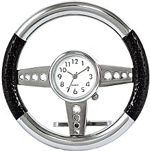 Steering Wheel Clock Novelty Desk