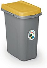Stefanplast 25 Litre Rubbish Bin, Yellow