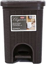Stefanplast Elegance Bathroom Dustbin, Moka, 20.5