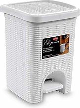 Stefanplast Elegance Bathroom Dustbin, White, 20.5