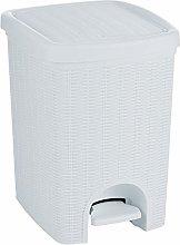 Stefanplast Elegance Dustbin, White, 31 x 27.5 x