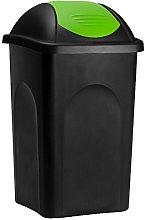 Stefanplast® Waste Rubbish Bin Swing Lid 60 Litre