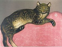Steinlen Winter Cat On A Cushion Painting Large