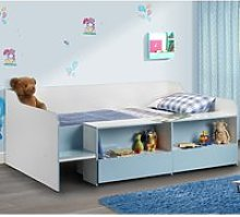 Stella Blue and White Wooden Kids Low Sleeper