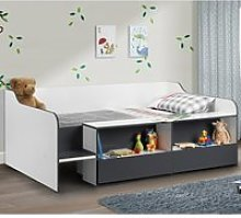 Stella Grey and White Wooden Kids Low Sleeper