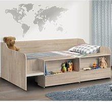 Stella Oak Wooden Kids Low Sleeper Cabin Storage