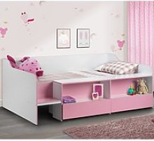 Stella Pink and White Wooden Kids Low Sleeper