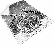 STELULI Blankets Viking Dragon Regular Wearable