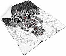 STELULI Blankets VIKINGS TATTOO Regular Soft Warm
