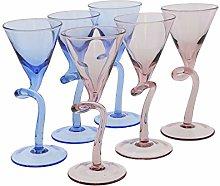 Stem Martini Glasses Shot Glass 1 oz - 3 Purple 3