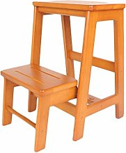 Step Stool Solid Wood Collapsible Multi-function