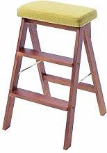 Stepladder Folding 3 Tread Stepstool Ladder Chair,