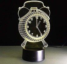 Stereo Light Alarm Clock Lamp 3D Visual Led Night