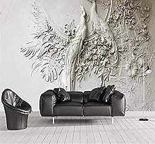 Stereo Peacock Tv Sofa Background Wall Painting