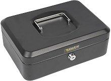 Sterling CB03BK Keyed-Lock Cash Box Black 10'
