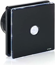 STERR - Black Bathroom Extractor Fan with LED