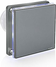 STERR - Grey Bathroom Extractor Fan with LED