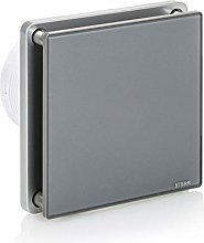 STERR - Grey Bathroom Extractor Fan with Timer 100