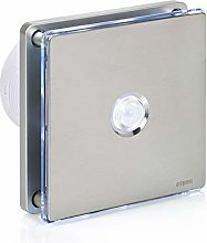 STERR - Silver Bathroom Extractor Fan with LED