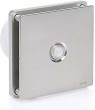 STERR - Silver Bathroom Extractor Fan with PIR