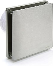 STERR - Silver Bathroom Extractor Fan with Timer