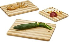 Stetler 3 Piece Bamboo Chopping Board Set Symple