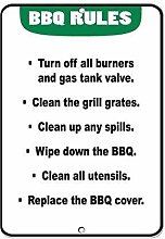 Stevenca Metal Tin Sign BBQ: Turn Off Burners &