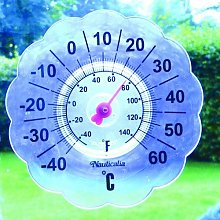 Stick On Window Pane Thermometer
