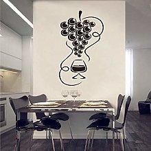 Sticker Gourmet Grape and Wine Glass Vinyl Wall