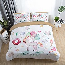 Sticker superb 3D Cartoon Unicorn White Bedding