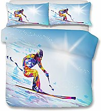 Sticker Superb 3D Sport Game Ice Skiing Shotting