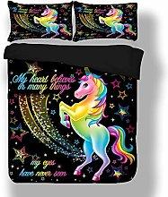 Sticker superb Elegant Colorful Unicorn Bedding