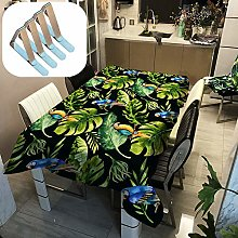 Sticker Superb. Green White Tropical Leaf Table
